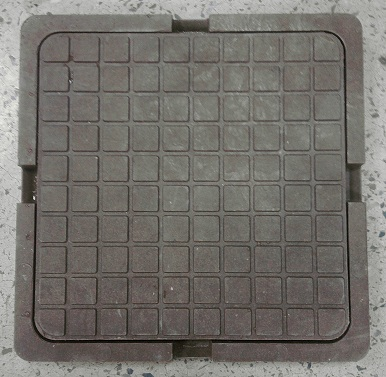 Люк квадратный Тип ЛКПП (А30) садовый - полимерпесчаные люки